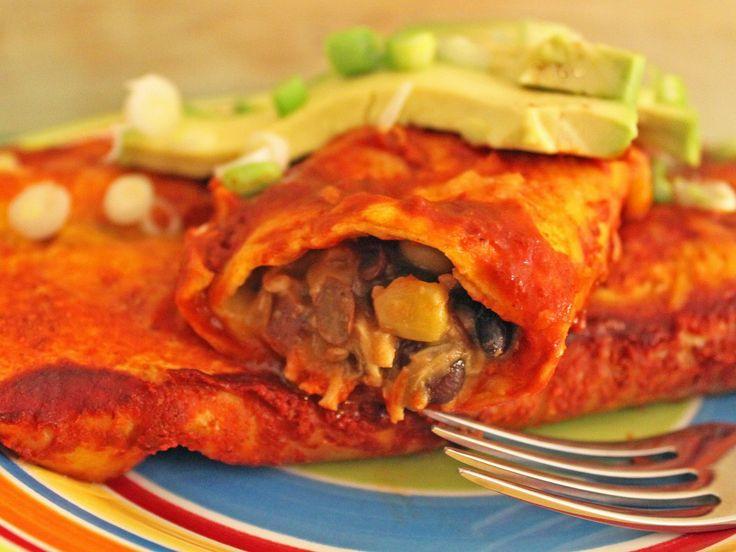 Semi Slow Cooker Black Bean & Chicken Enchiladas