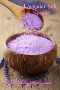 Homemade Beauty: Lavender Salt Scrub - The Go To Mum
