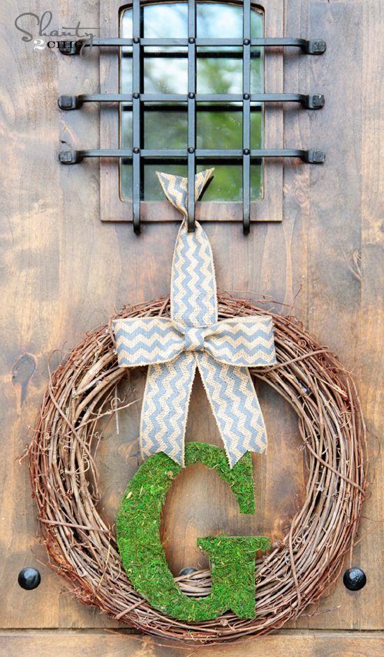 DIY Spring Wreath @Shaty2hic @ShanTil Yell-2-Chic.com