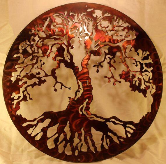 20 tree of life metal wall art home decor. Black Bedroom Furniture Sets. Home Design Ideas