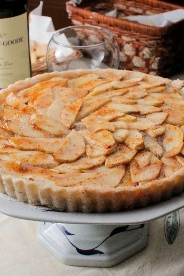Gluten Free Apple Walnut Tart with Fig Glaze