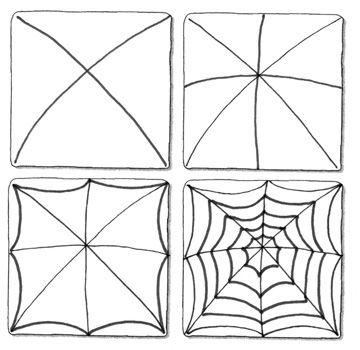 Spinnenweb Tekenen Herfst Pinterest