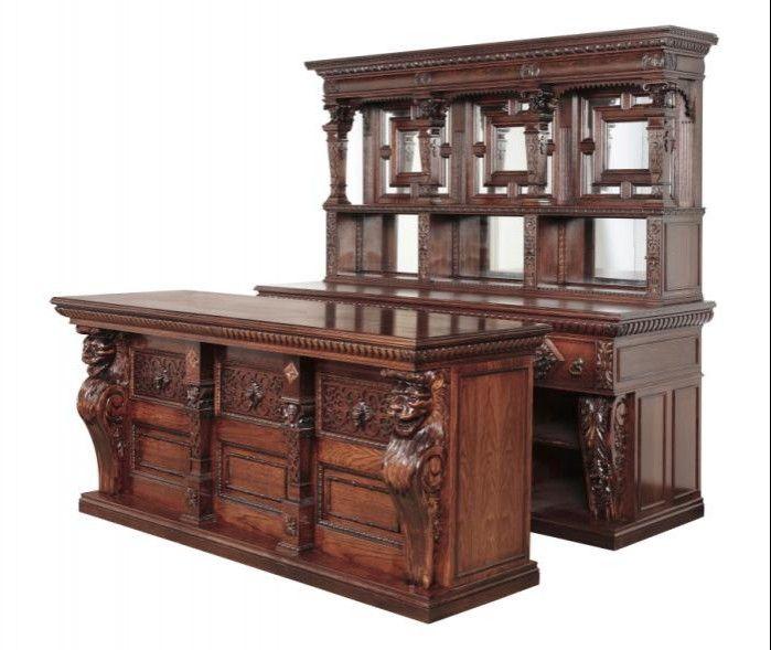 Large ornate front and back bar homeward bound pinterest - Back bar designs for home ...