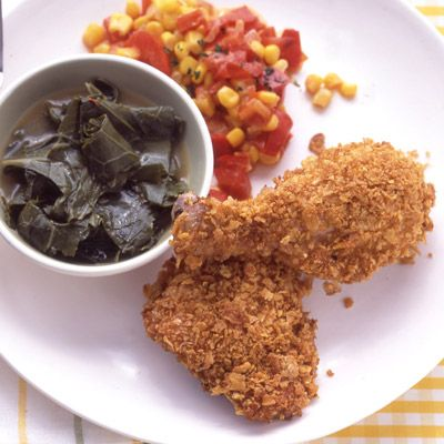 Cornflake-Crusted Baked Chicken Recipe — Dishmaps
