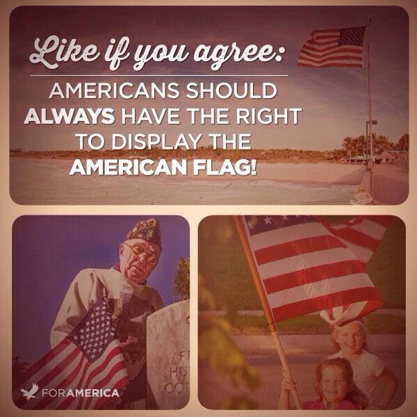 display of american flag