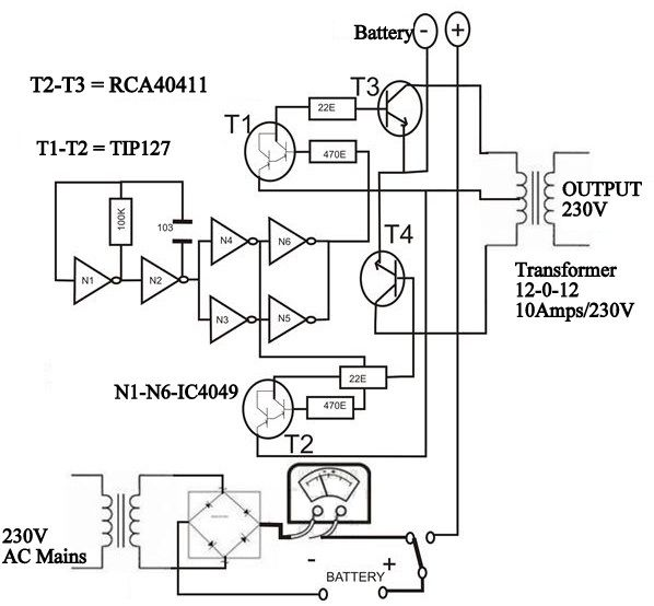 solar inverter block diagram