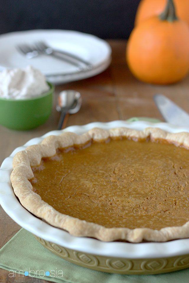 ambrosia: Classic Pumpkin Pie | Pies, Cakes & Tarts | Pinterest