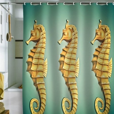 Shannon clark seahorse shower curtain 69 by 72 inch home amp kitchen