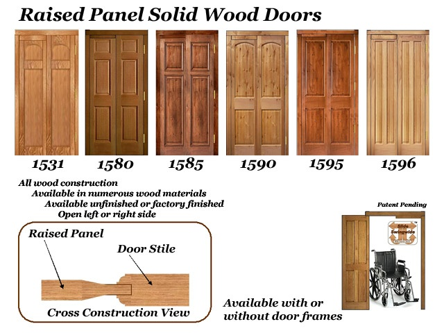 Raised panel solid wood doors accessible rooms pinterest for 15 panel solid wood door