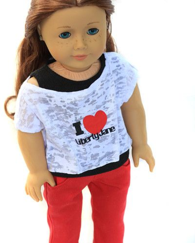 Liberty LOVE outfit for 18 inch American Girl Dolls