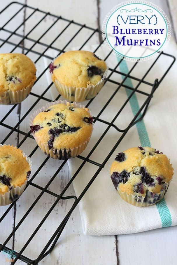 Easy Very Blueberry Muffins Recipe by SuperGlueMom.com - Delicious ...
