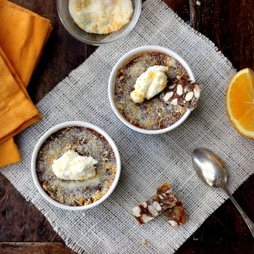 Chocolate Orange Pots de Creme with Fleur de Sel