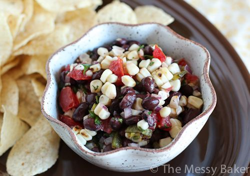 Black Bean & Fire Roasted Corn Salsa - The Messy Baker Blog