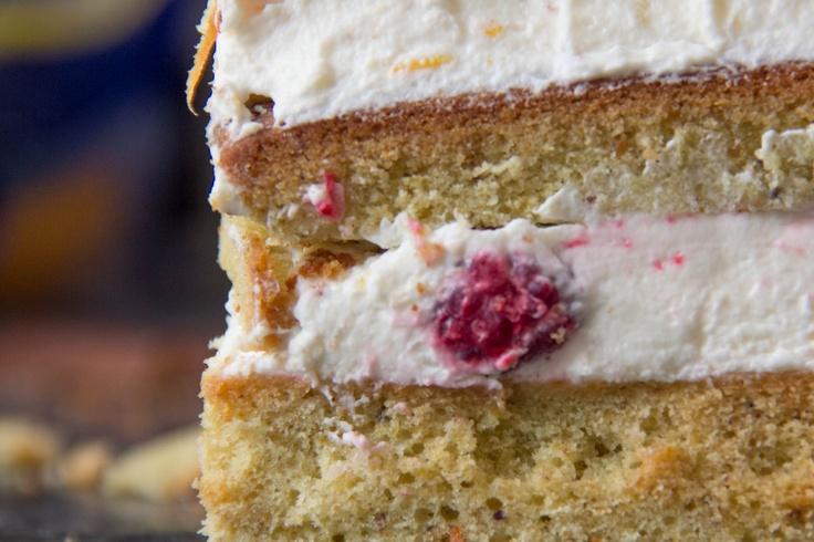 Pistachio Pound Cake with Meyer Lemon-Mascarpone Frosting & Fresh ...