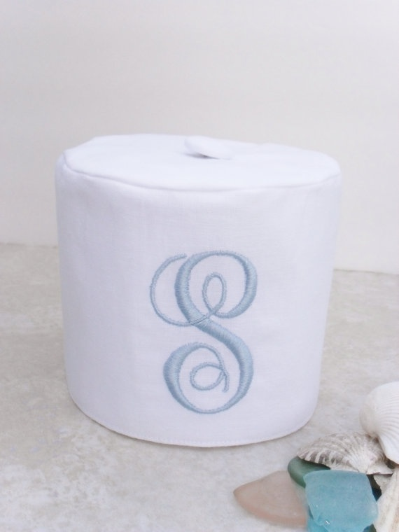 Monogrammed Linen Toilet Paper Cover Monogramming Just