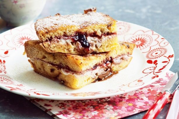 Panettone french toast with ricotta | Desserts | Pinterest