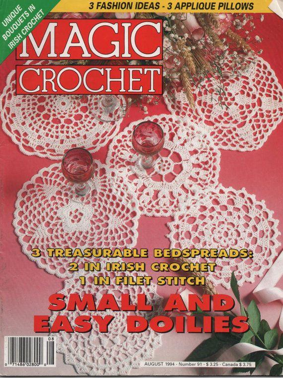Magic Crochet Magazine : Magic Crochet Magazine August 1994 Crochet by creekyattic on Etsy, $5 ...