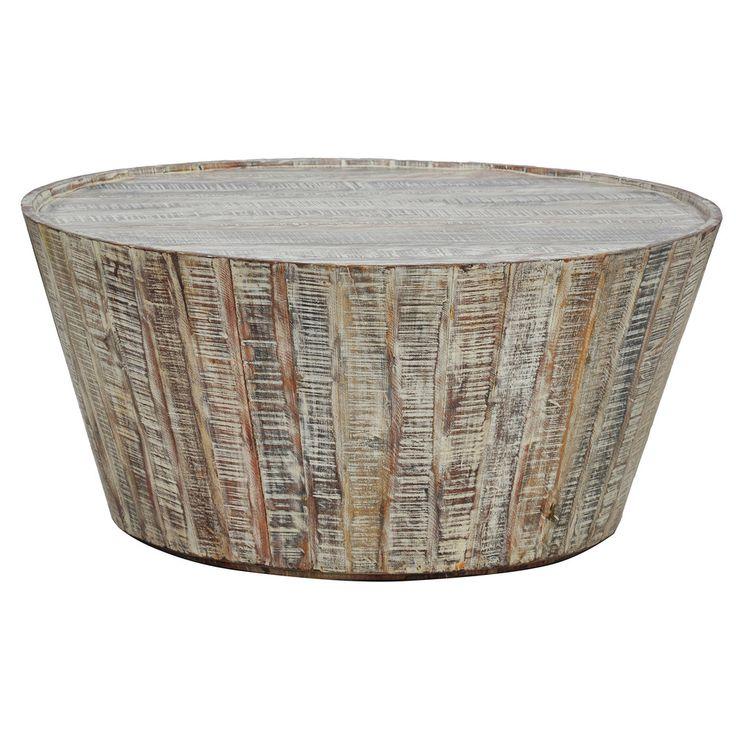 Hamshire Wooden Barrel Coffee Table