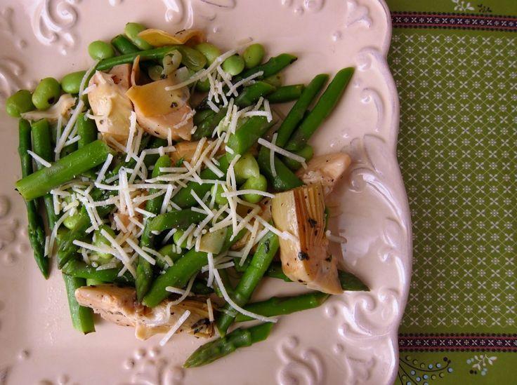 Asparagus Edamame Artichoke Salad | Food | Pinterest