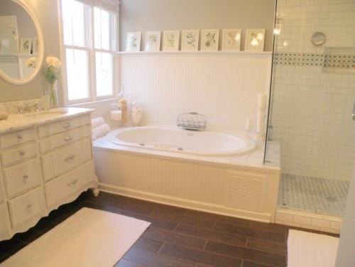 Hardwood In Bathroom Beauteous Design Decoration