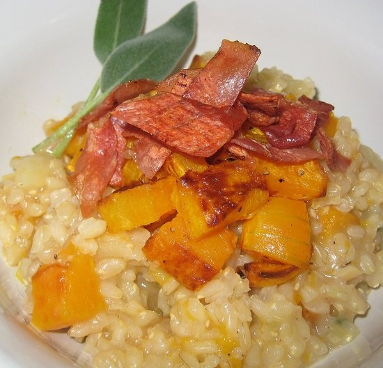 Risotto with Crispy Prosciutto and Sage...a great alternative to pasta ...