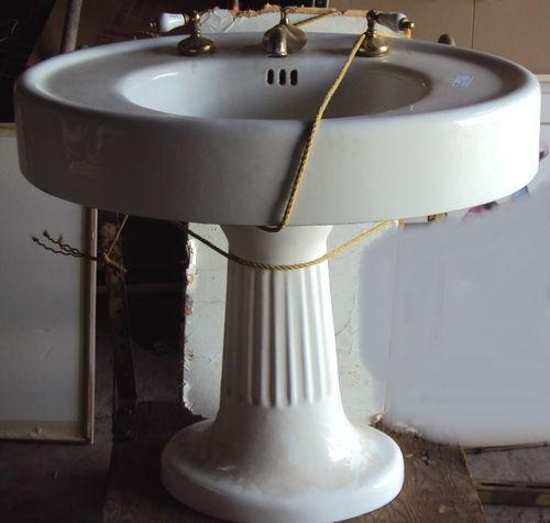 Oval Pedestal Sink : Gorgeous vintage oval pedestal sink