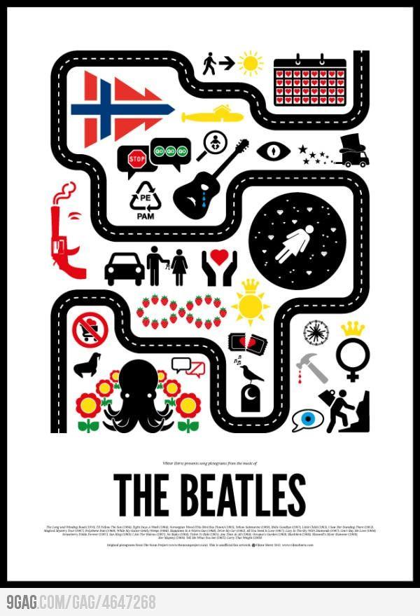Beatles songs in pictures