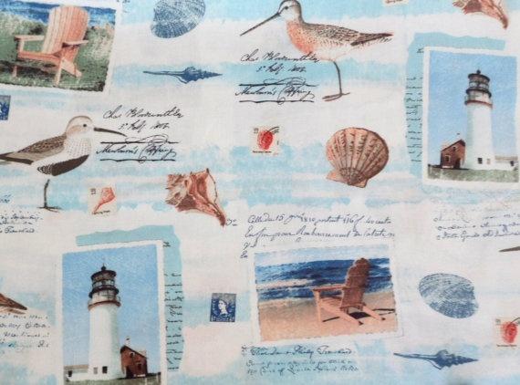 Cotton Fabric Beach Scene Sandy Shores Windham by Quiltwear, $10.50