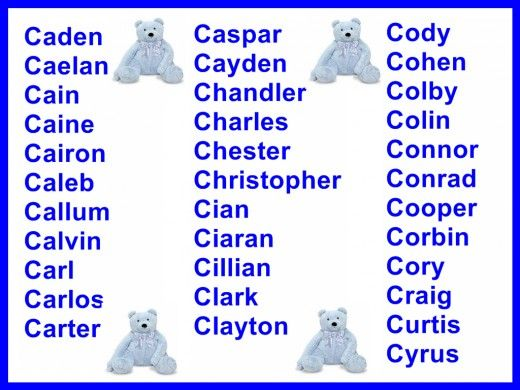 Boys names starting with c where they come from and what they mean