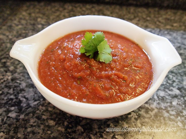 Mexican Restaurant Style Salsa