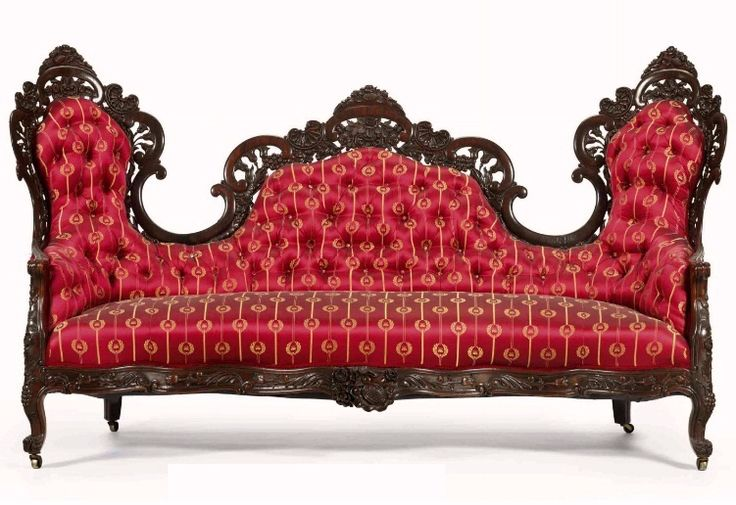 John Henry Belter Rococo Revival Laminated Rosewood Sofa