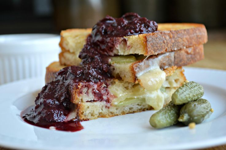 "Plougman's Lunch!"" - grilled cheese with pickles and chutney"