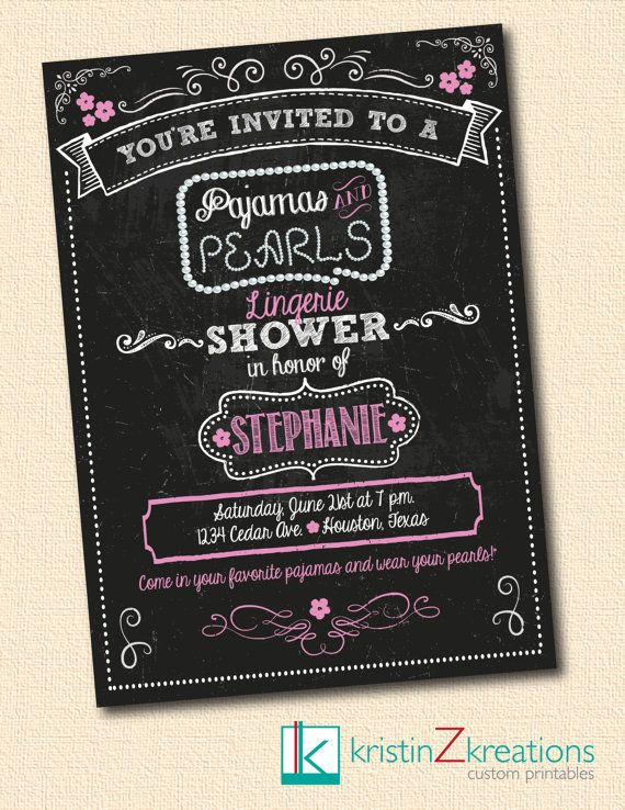 Custom Invitation as great invitation ideas