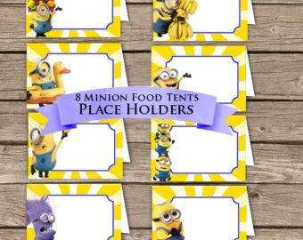 ... Tents! Place Holders! Digital Download! Despicable me Birthday Party