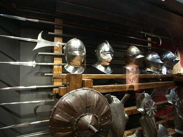 Helmets, Shields and Weapons - Tower of London