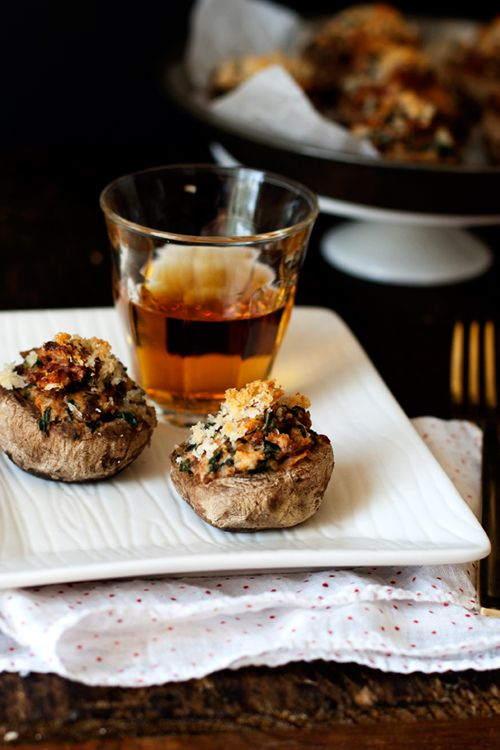 Sausage, Spinach, & Sundried Tomato Stuffed Mushrooms