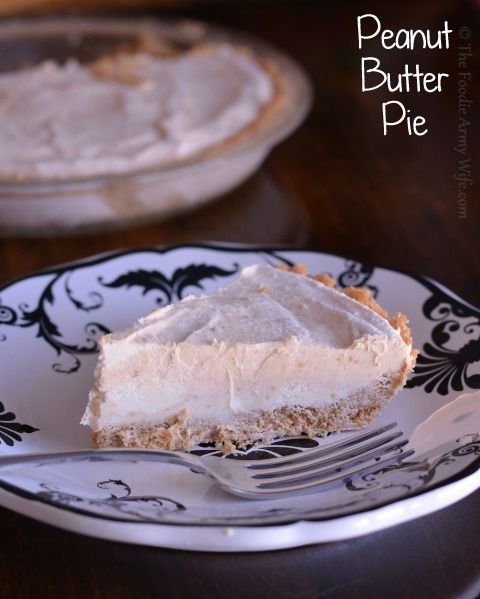 No Bake} Peanut Butter Pie | All the Recipes from The Foodie Army Wi ...
