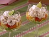 Crab salad with mango salsa