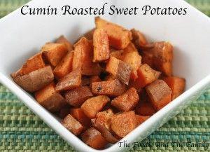 Cumin Roasted Sweet Potatoes - thefoodieandthefamily.com