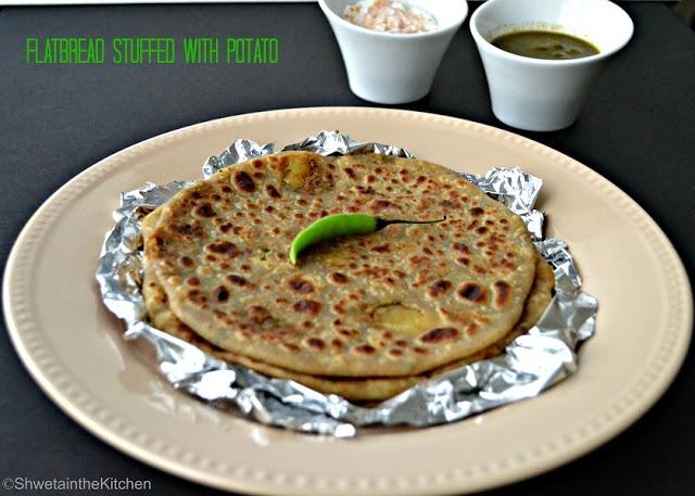 ... the Kitchen: Aloo Paratha - Potato Paratha - Potato Stuffed Flat-bread