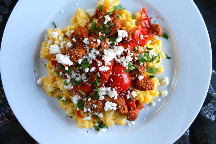 breakfast polenta with chorizo | Food | Pinterest