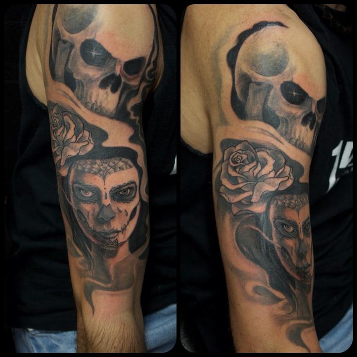 Skull Tattoos For Women On Arm