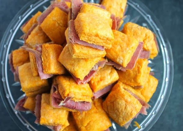 Sweet Potato Ham Biscuits & Maple Mustard Dipping Sauce
