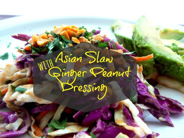 Asian Slaw with Ginger Peanut Dressing | Vegan | Pinterest