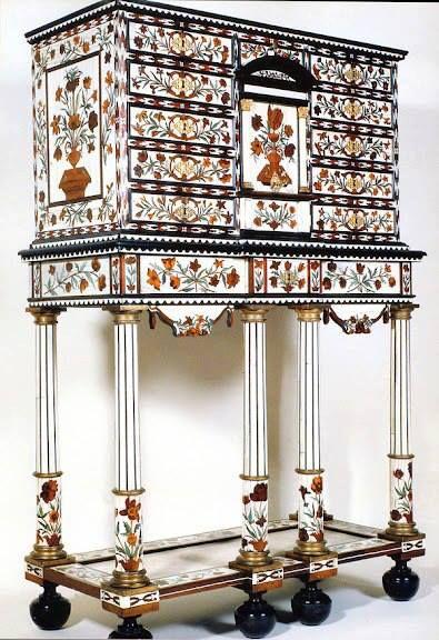 Pierre Gole (v. 1620-1684) - Cabinet de Monsieur, frère du Roi, réalisé pour le Cabinet Blanc au Palais-Royal, 1661-65 - Londres, Victoria & Albert Museum