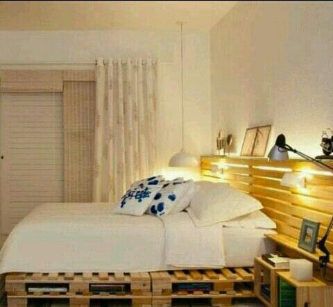 Cama con palets muebles con palets pinterest for Cama con palets