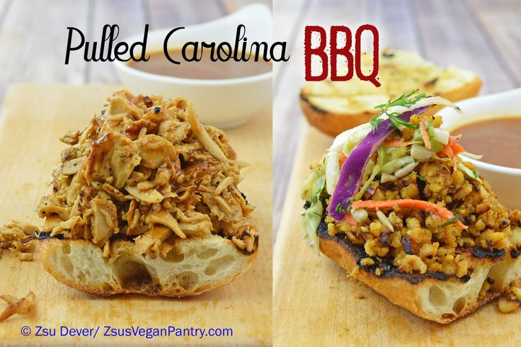 Pulled Carolina BBQ Sammie (with Beyond Meat Chicken-less Strips)