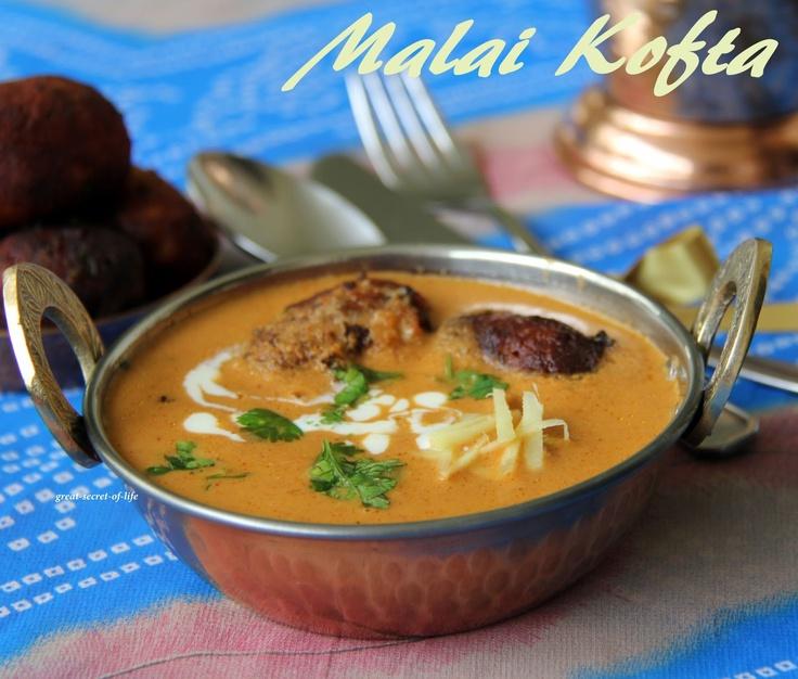 Malai Kofta (Cheese balls in mild gravy) | Cheesy Balls | Pinterest