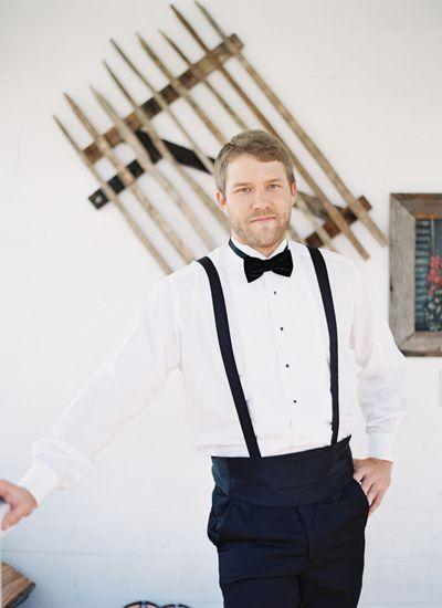 bow tie suspenders wedding inspirations