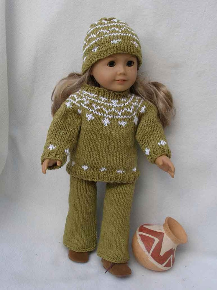 KNITTING IN the ROUND Downloadable Knitting pattern for any 18 inch Doll incl...